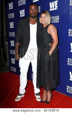 LOS ANGELES - MAY 28:  Reggie Youngblood, Tami Roman at the WE tv's