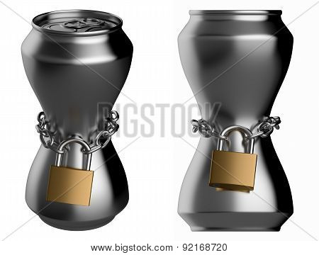 Locked Thin Drink Can