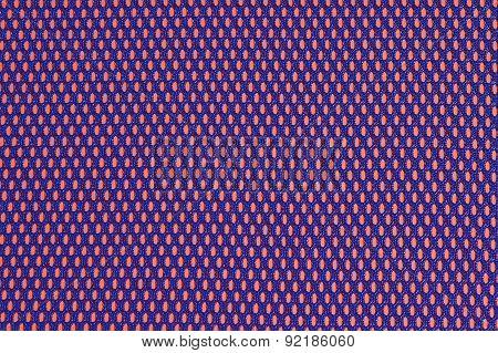 Blue Nonwoven Fabric On A Orange