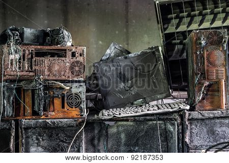 Personal Computer burnt
