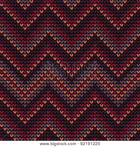 Knitted seamless pattern with colored frills
