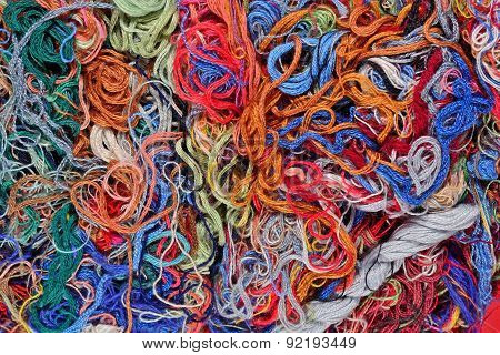 Colorful Embroidery Floss Background