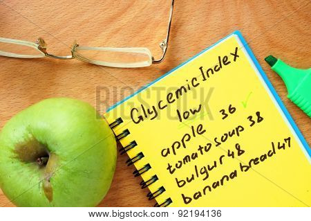 Foods with low Glycemic index list