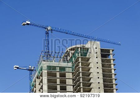 Construction of many storeyed building in different readiness