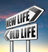 new life versus old life fresh beginning or start again last chance for you by remake or makeover  poster