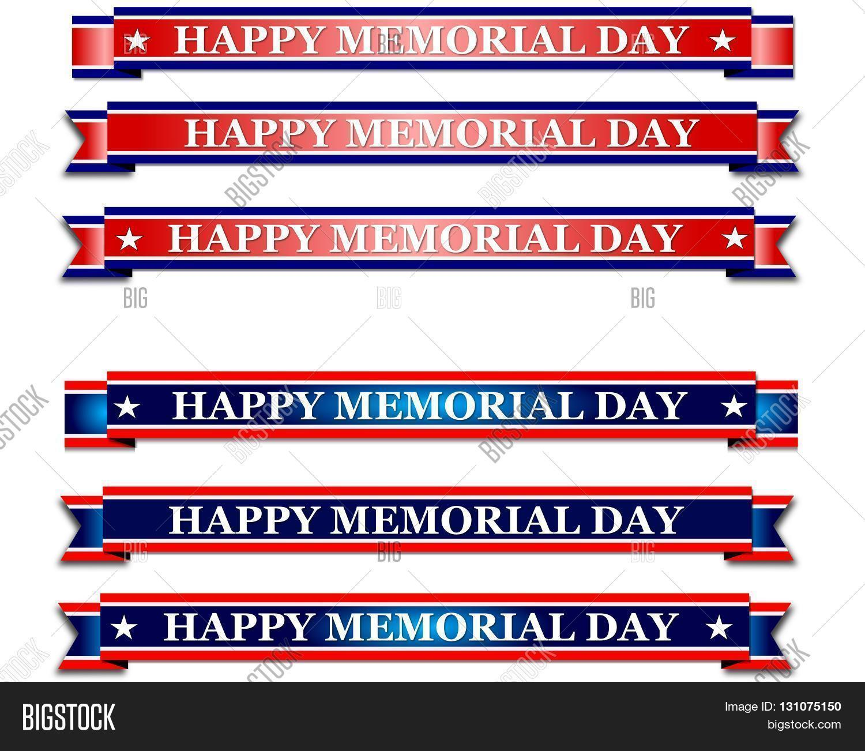 Day Memorial Banner Holiday Image Photo Bigstock