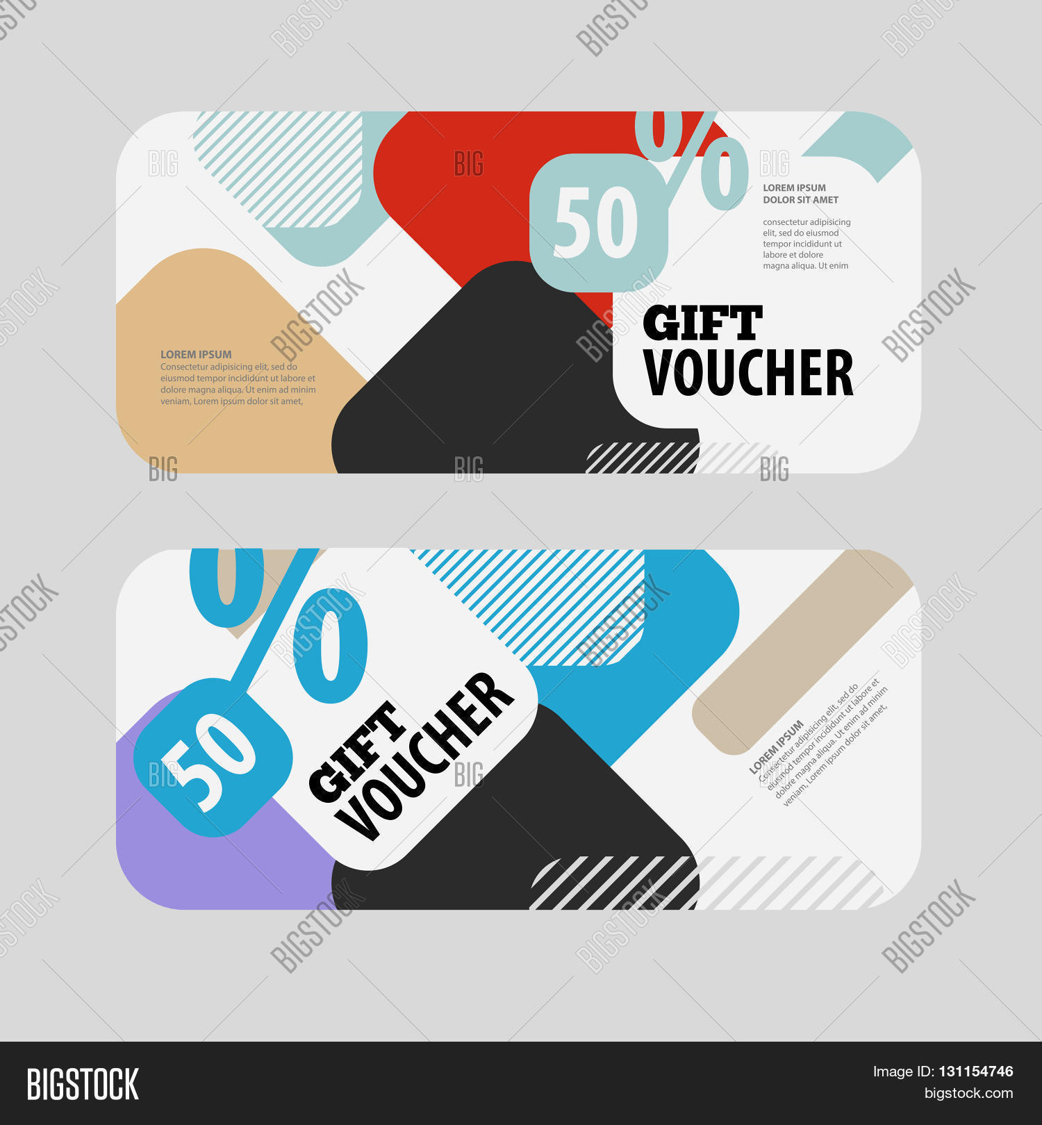 Abstract Gift Voucher Vector Photo Free Trial Bigstock