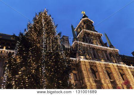 Christmas on Grote Markt in Antwerp. Antwerp Flemish Region Belgium