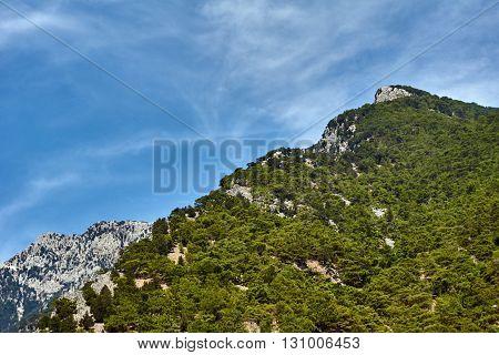 Lefka Ori - rocky summit of the White Mountains on the island of Crete