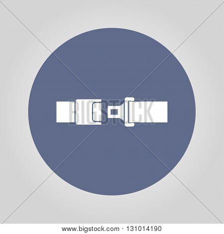 safe belt. Modern design flat style EPS
