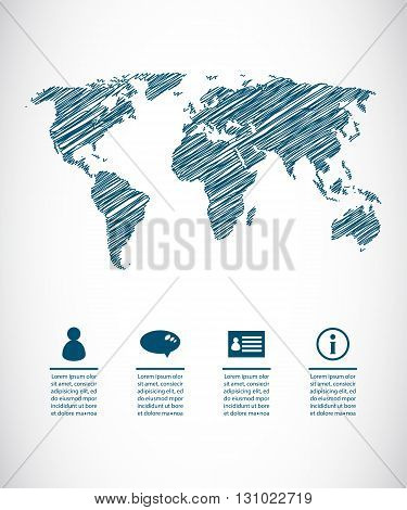 travel the world abstract background, vector design