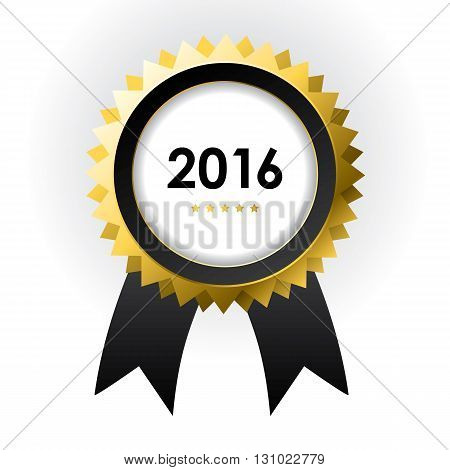 special label with ribbons - best of 2016 sign