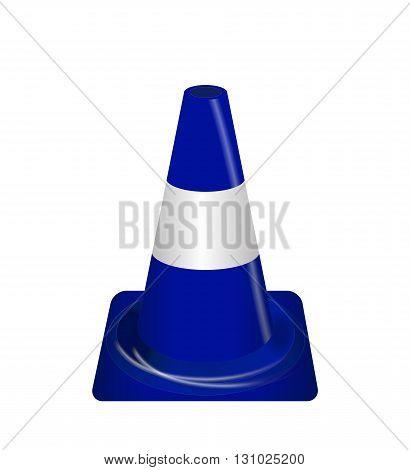 Road signs. Blue Badge guardrails. Vector Illustration EPS10