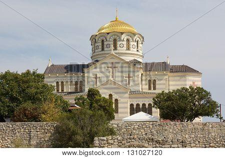 Vladimir Cathedral in the Chersonesos Taurica. Sevastopol, Crimea poster