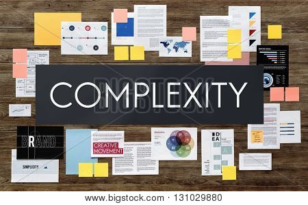 Complexity Confuse Complicated Disorder Intricate Concept