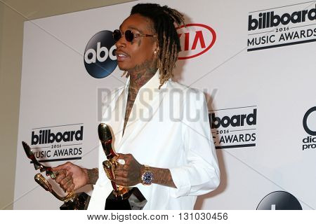 LAS VEGAS - MAY 22:  Wiz Khalifa at the Billboard Music Awards 2016 at the T-Mobile Arena on May 22, 2016 in Las Vegas, NV