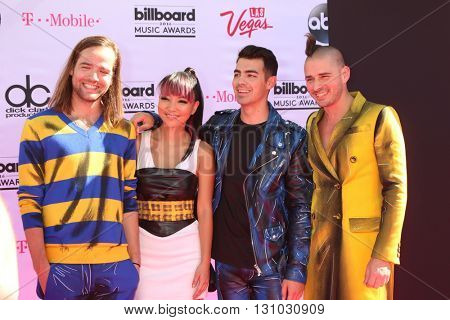 LAS VEGAS - MAY 22:  Jack Lawless, JinJoo Lee, Joe Jonas, Cole Whittle at the Billboard Music Awards 2016 at the T-Mobile Arena on May 22, 2016 in Las Vegas, NV