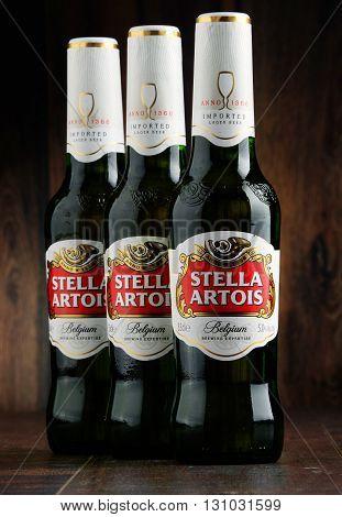Three Bottles Of Stella Artois Beer