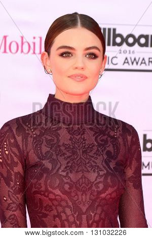 LAS VEGAS - MAY 22:  Lucy Hale at the Billboard Music Awards 2016 at the T-Mobile Arena on May 22, 2016 in Las Vegas, NV