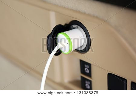 Power plug in car socket