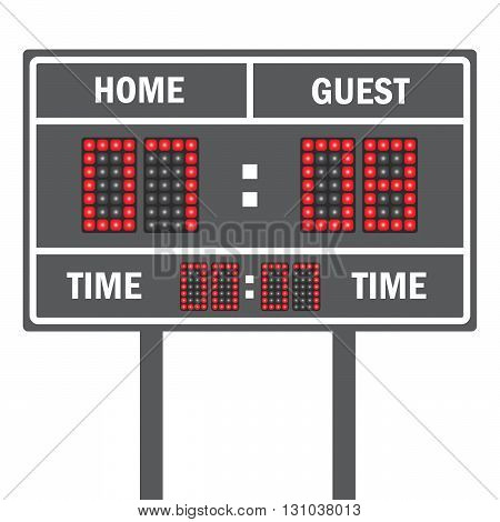 American football vector scoreboard. Sport football, scoreboard american game
