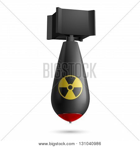 Illustration of atomic bomb bomb isolated on a white background