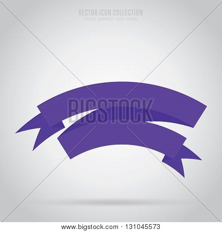 Banner ribbon vector element. Origami banner. Retro banner ribbon. Blank banner ribbon. Abstract ribbon. Isolated banner ribbon in origami style. Banner ribbon icon. Origami ribbon. Ribbon sticker. Origami flat vector icon. Origami banner concept. Ribbon.