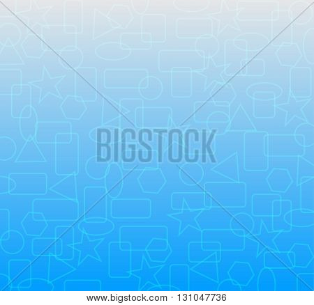simple shape geometric backdrop on blue background for decoration template