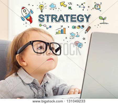 Strategy Concept With Toddler Girl