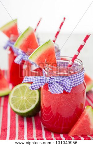 Glasses of home-made fresh juice
