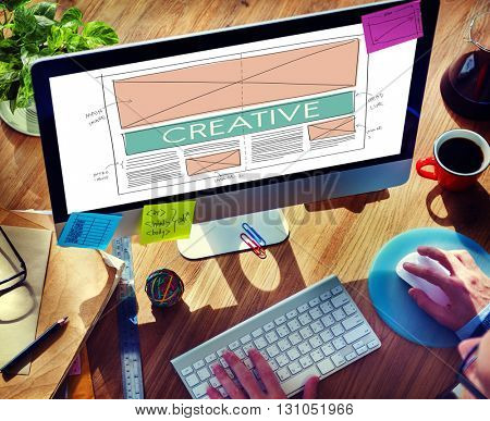 Creative Template Web Design Layout Concept