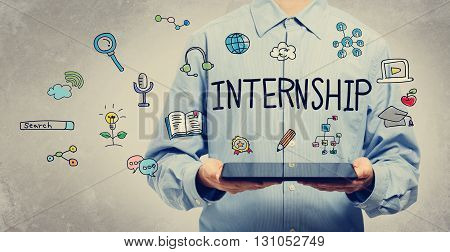 Internship Concept With Young Man