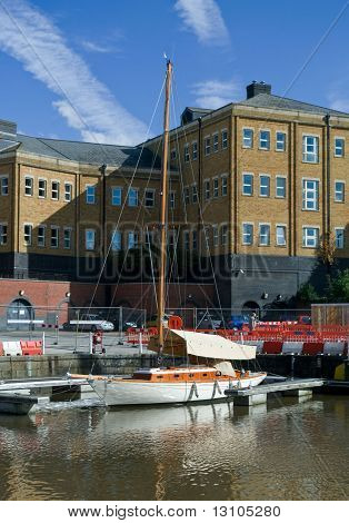 Warehouse In Gloucester Dock And Yacht