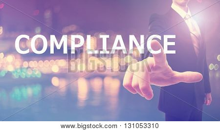 Compliance Concept With Businessman