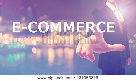 E-commerce Concept With Businessman