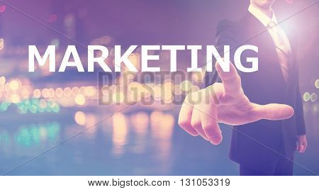 Marketing Concept With Businessman