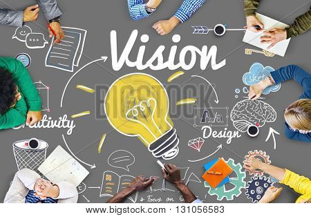 Vision Creative Ideas Design Concept