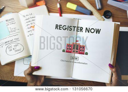 Register Now E-learning Education Website Concept