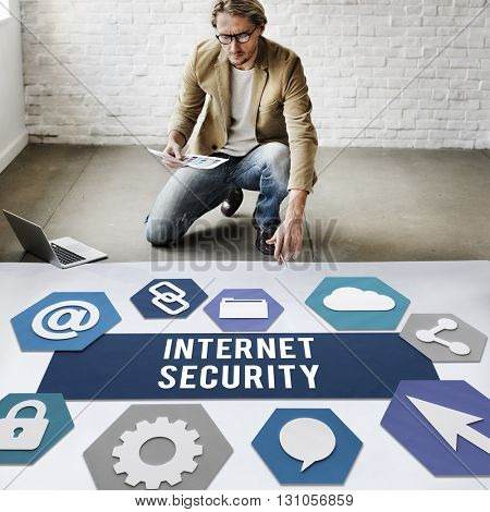 Internet Security Protection Safety Concept