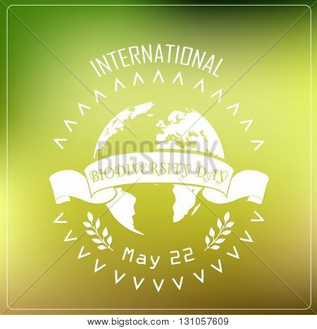 Vector illustration of Biodiversity international day background concept typography