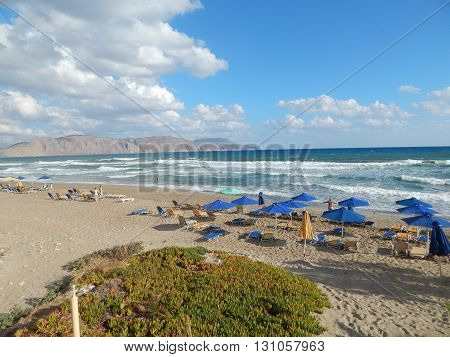 Travel Greece Crete Kavros village in Mediterranean Sea