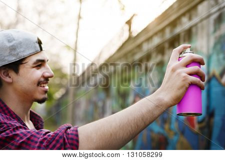 Artwork Sprayed Street Art Casual Cheerful City Concept