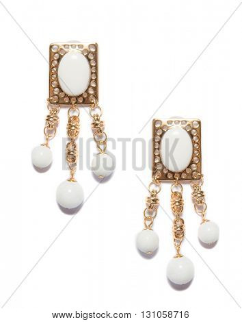 Fashion jewellery isolated on white