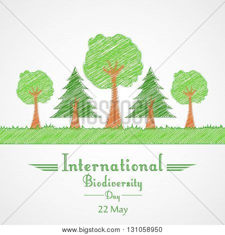 Vector illustration of International Biodiversity Day background concept Tree design
