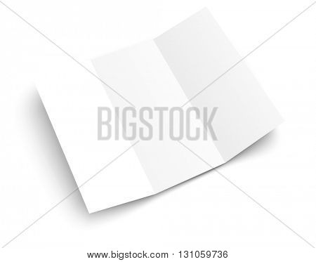 Blank white booklet vector template. Vector mockup. Template for a text