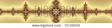 Fancy Golden Horizontal Separator