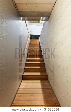 Architecture modern design, underground passage of a building