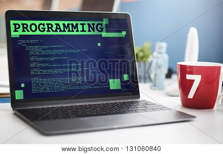 Programming Scheduling Digital Application Code Concept