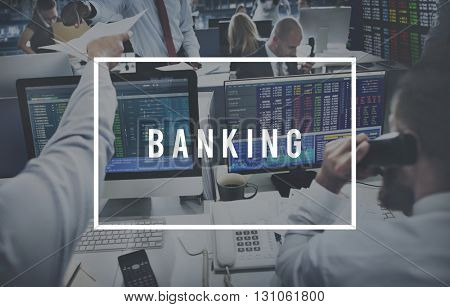 Banking Finance Currency Money Economy Concept
