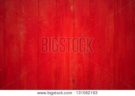 Red painted old wooden texture background, stock photo